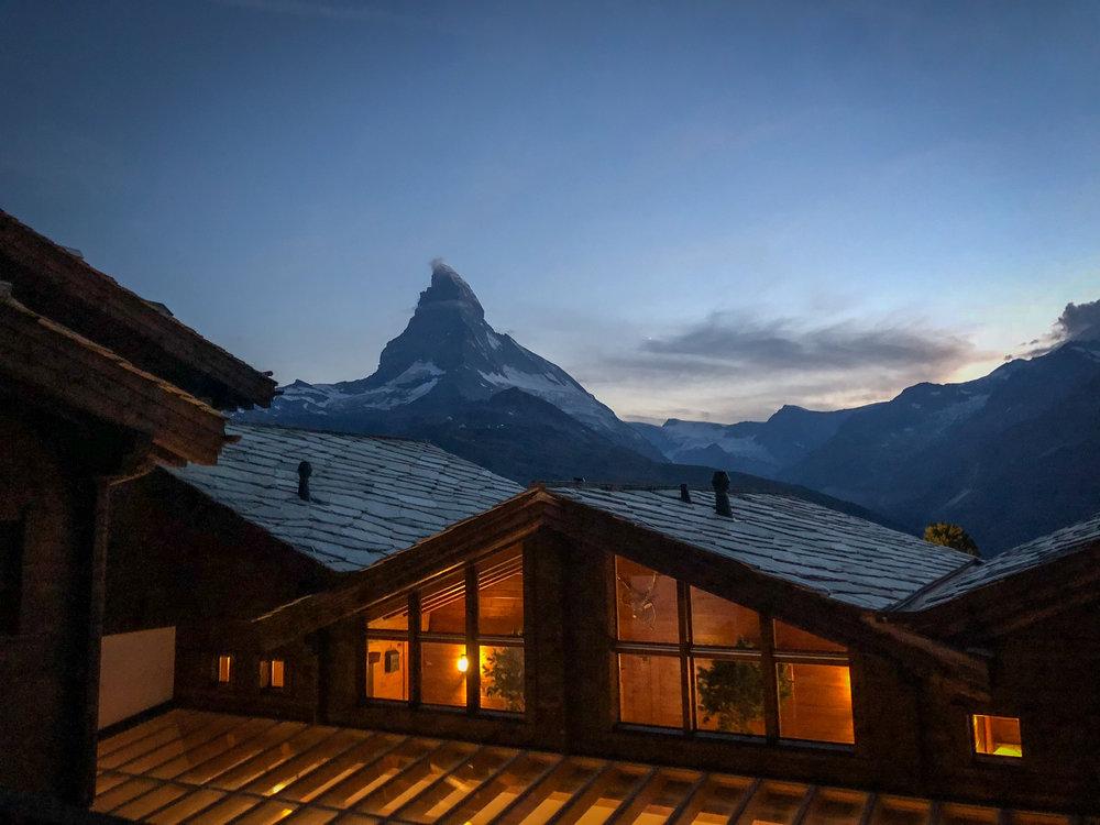 """The Matterhorn from """"our"""" terrace"""