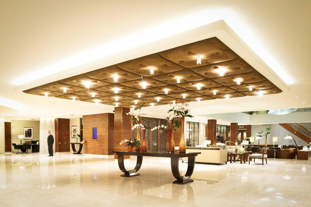 At the lobby