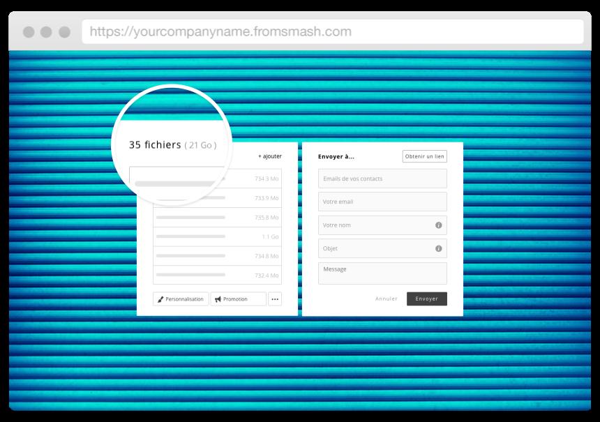 Smashez librement - Smash est un service très facile d'usage, sans contrainte (pas de limite en nombre et en taille de fichiers) et sécurisé.