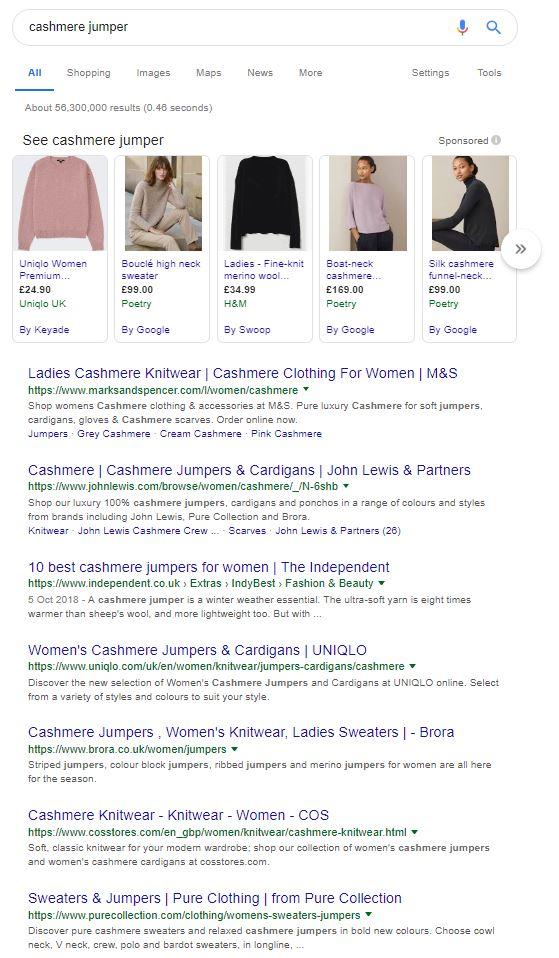 Keyword research cashmere jumper.JPG