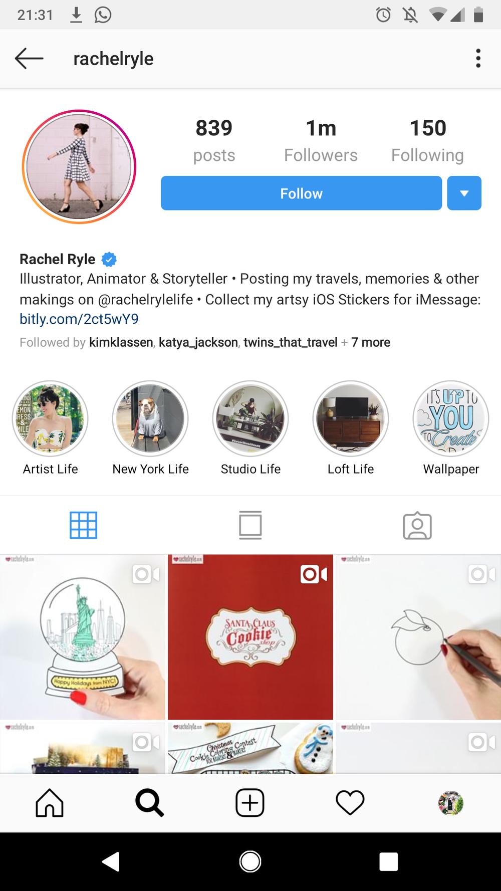 Rachel Ryle Instagram Stories