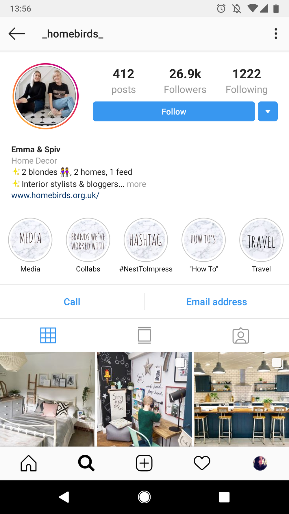 Instagram Stories Highlights example