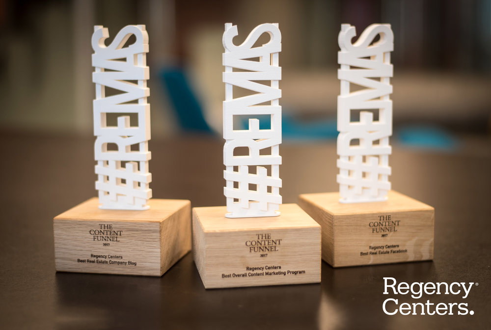Regency Center's was awarded with trophies in three categories for the 2017 #REMAS.