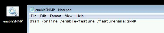 enable snmp feature cmd file