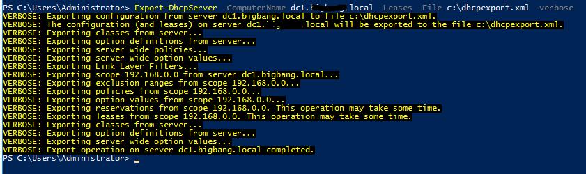 02 Export DHCPServer