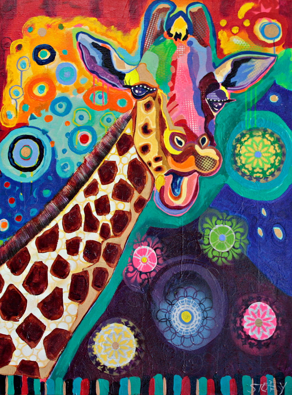 Conversations with a Giraffe (SOLD)