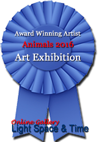 Award Winning Artist Animals 2016 Art Exhibition by online art gallery Light Space & Time