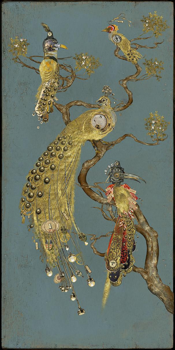à Pavane dorée, ramure dansante
