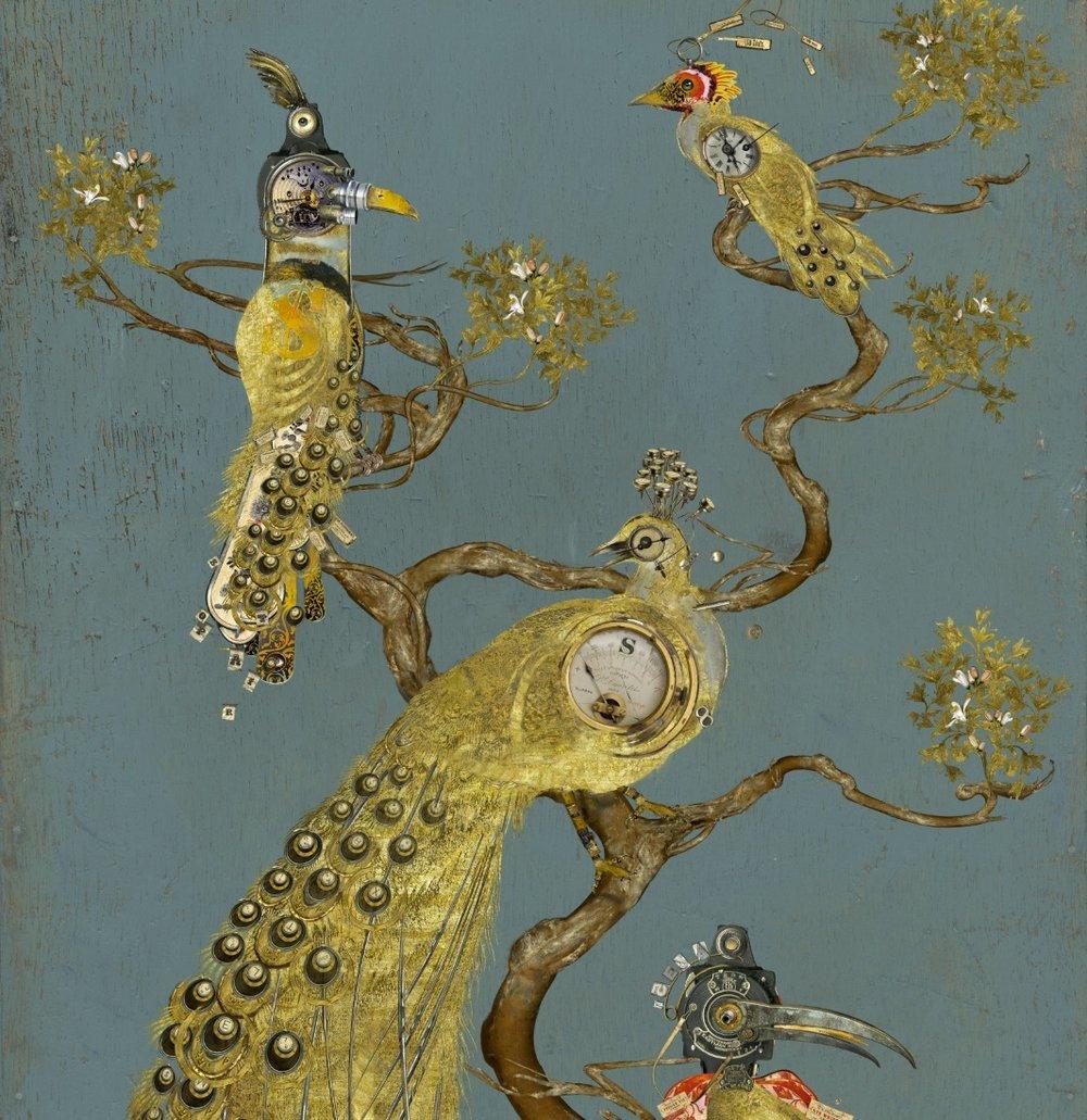 à Pavane dorée, ramure dansante (détail)
