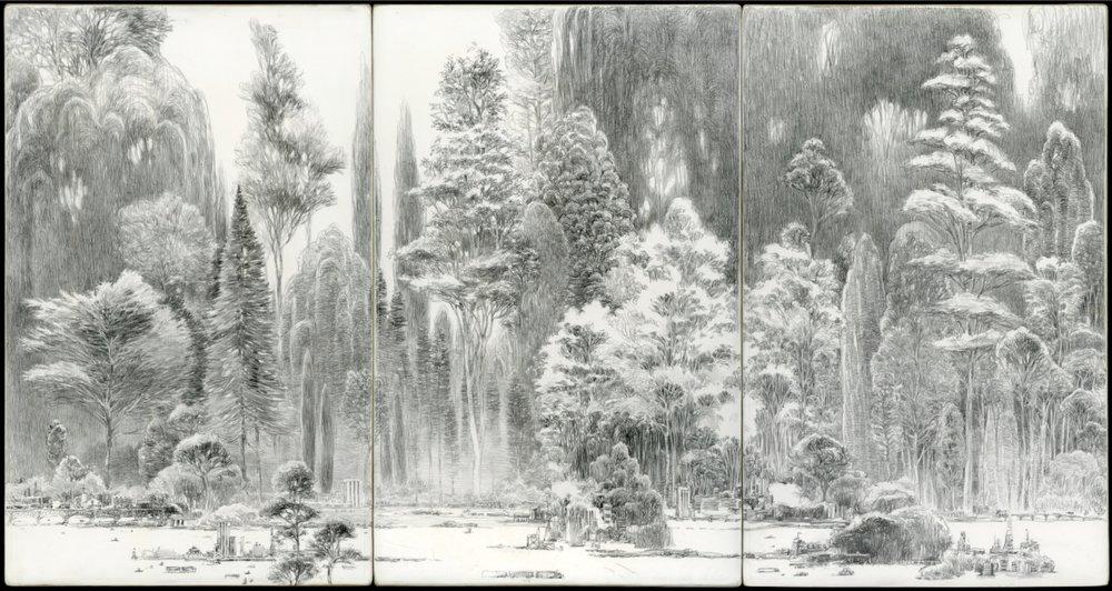 Dans la grande forêt - triptych model
