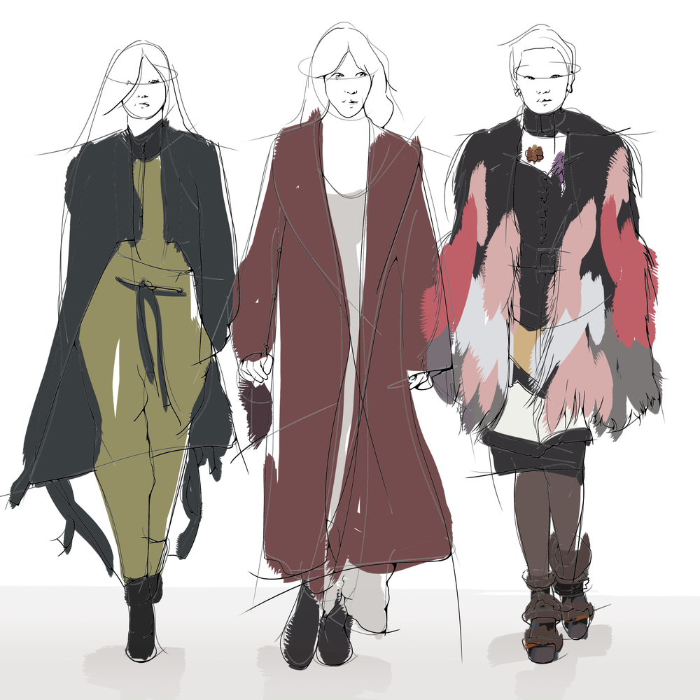 Left to right: Philip Lim 3.1, The Row, Rodarte