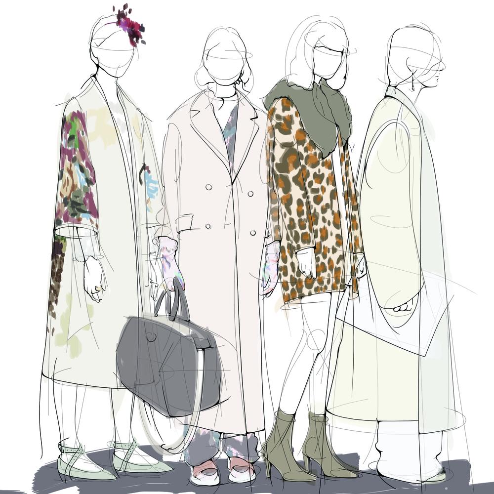 Left to right: Valentino, Emilio Pucci, Sonia Rykiel, Ports 1961