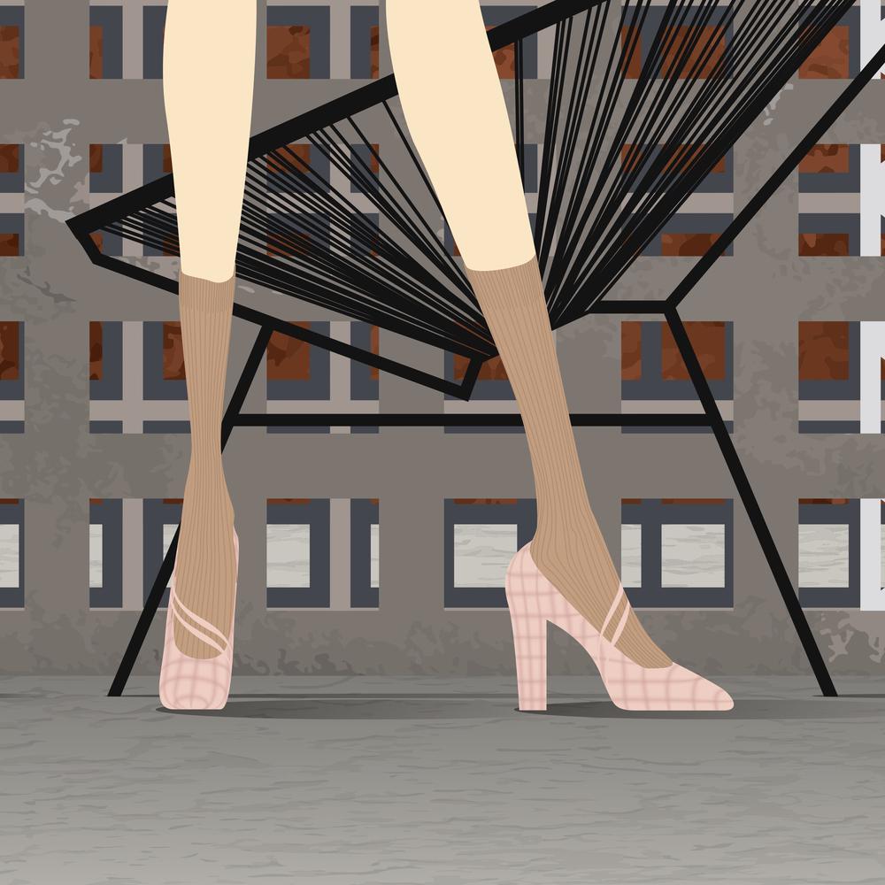 Socks: Rochas, Shoes: Rochas