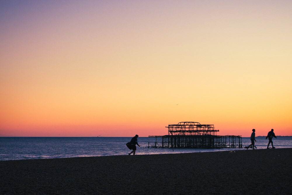 West Pier, Brighton, East Sussex, England