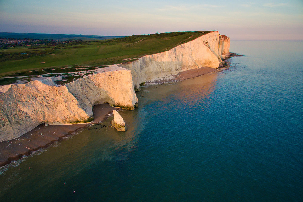 Seaford Head at Sunset, East Sussex
