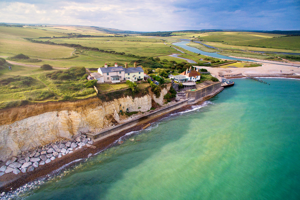 Coastguard Cottages and Cuckmere Haven, Seaford, East Sussex
