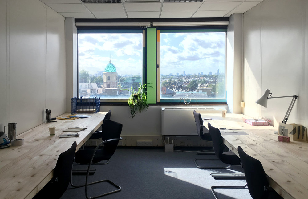 BUY - We have a range of Fixed Desks, Private Offices and an entire floor available. All include the BuyGiveWork initiative and what you would expect from a professional workspace.