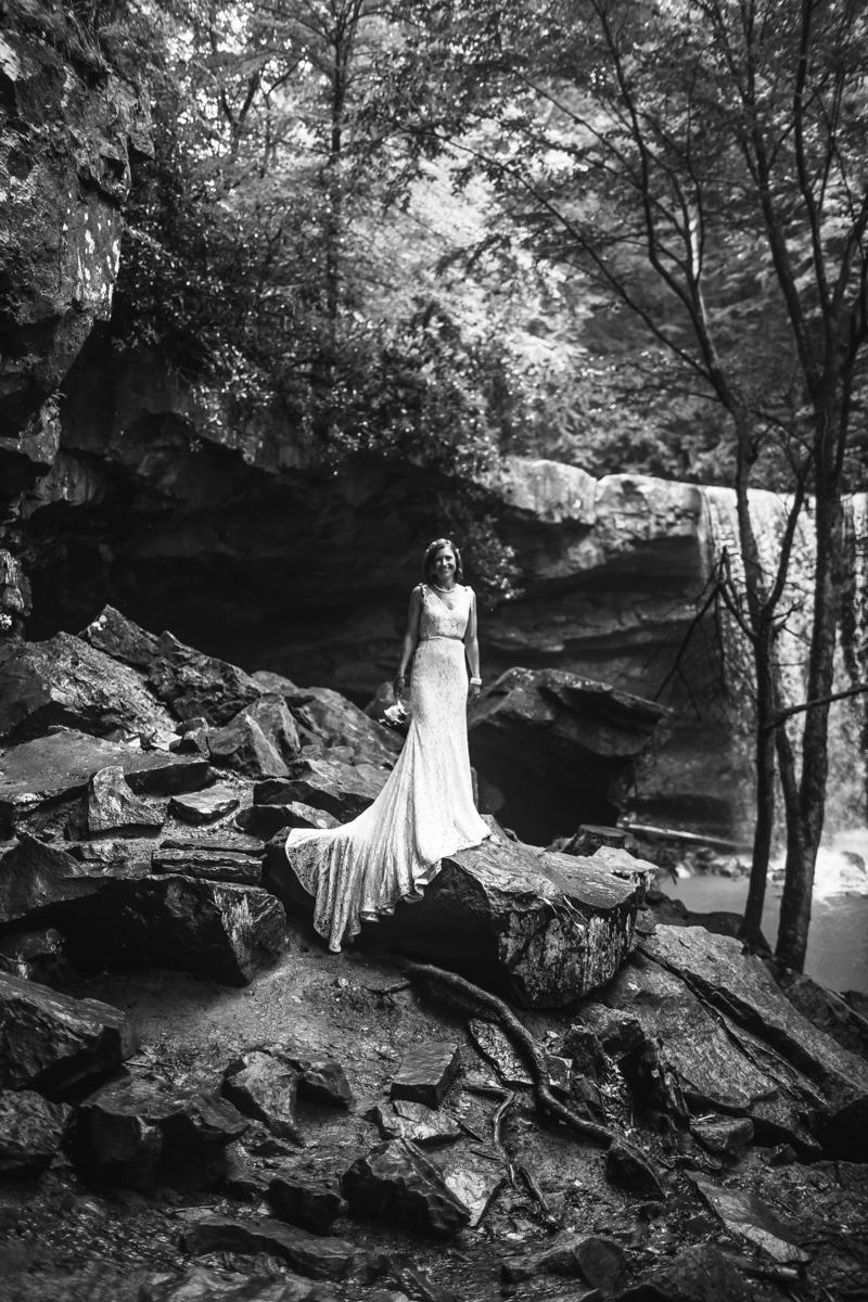 Telluride wedding photography, Waterfall Wedding