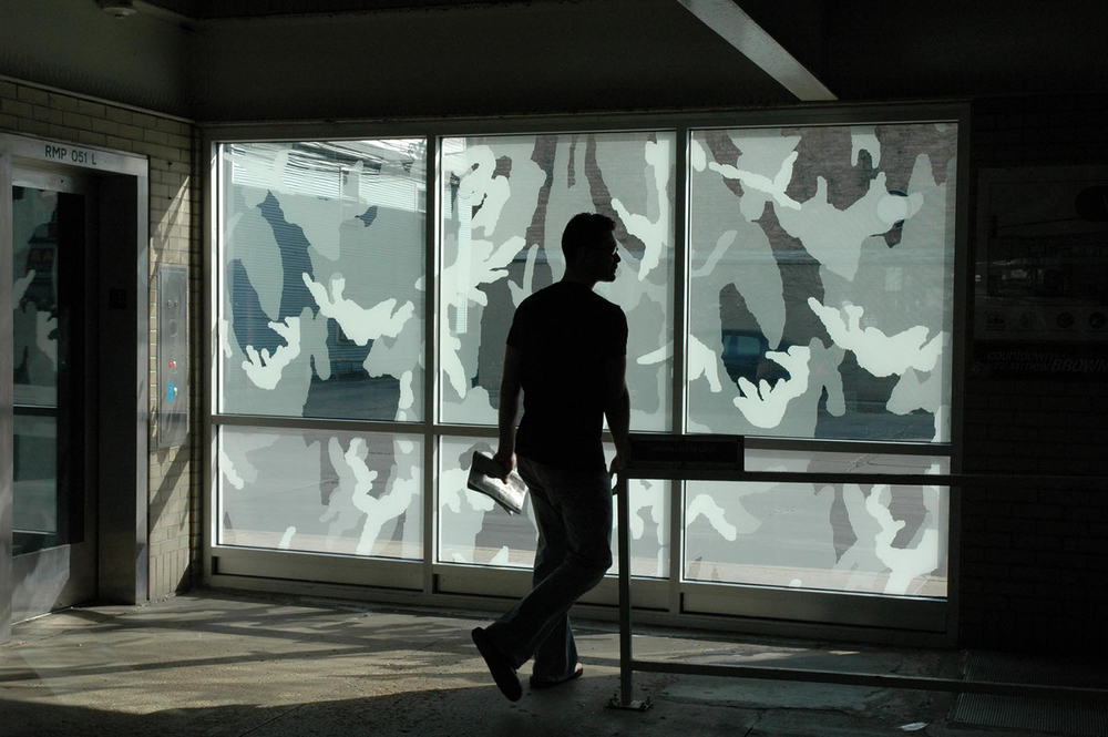 Shadow Screens: interior view, Western Avenue Station, Chicago 2007