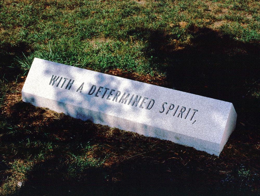 Path Marker (1 of 4), installation view 1997, Photo: B.T. Martin