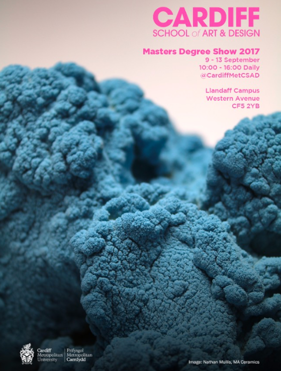 I am pleased to announce that my body of work 'small worlds' has been selected as this years poster cover for the CSAD masters degree show. The show itself is running from 9th - 13th September. at the cardiff school of art and design campus in Llandaff wales.