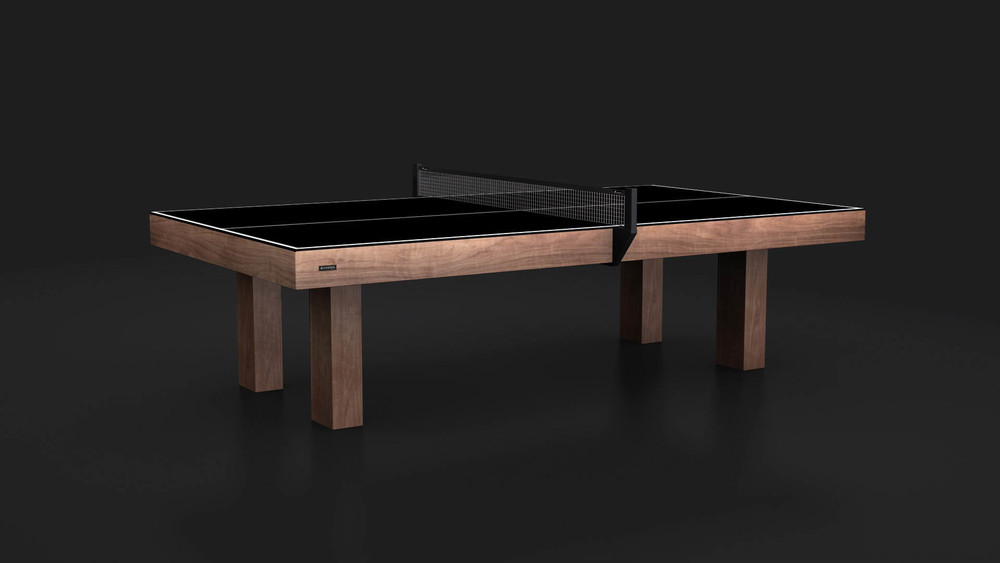 High Quality Malibu Table Tennis Table In Rift White Oak · Malibu   Walnut Conversion Top