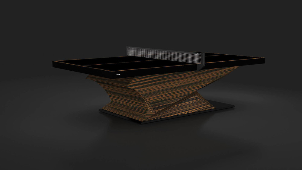 Raven Table Tennis Table in Macassar Ebony
