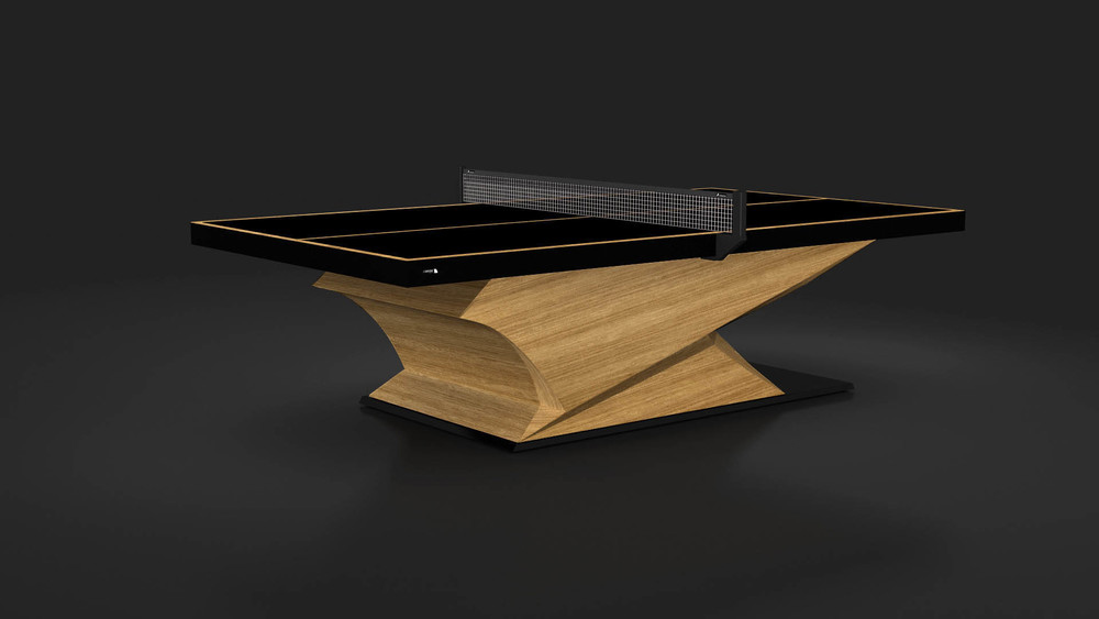 Raven Table Tennis Table in Teak