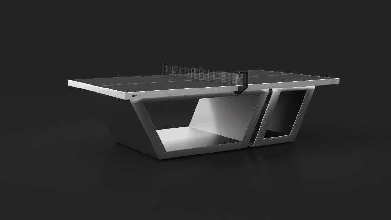 Titan - Brushed Aluminum Table Tennis Table