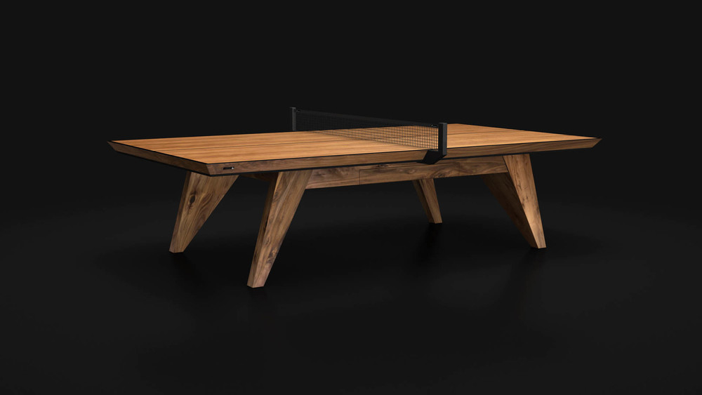 Trigon Table Tennis Table In Walnut