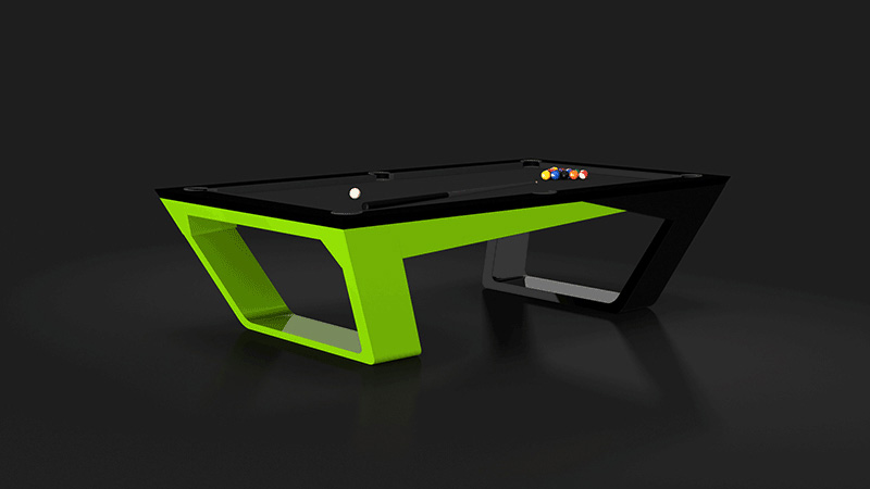 Avettore Black and Lime Billiards Table