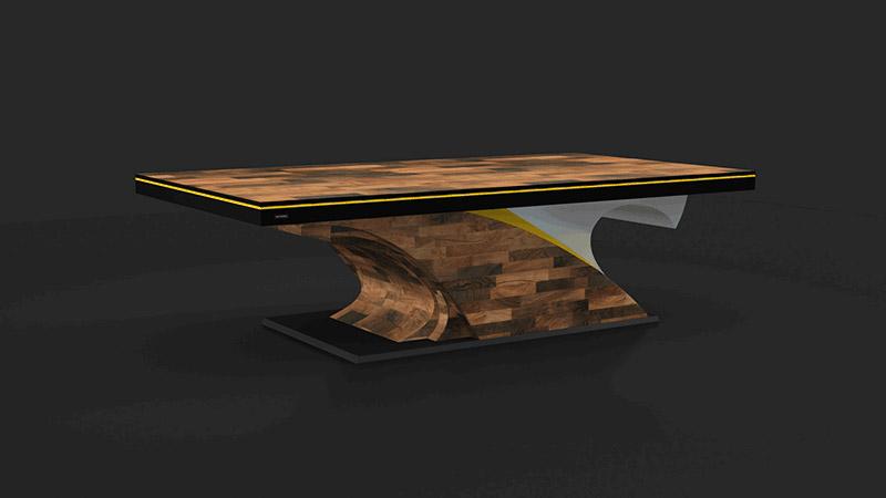 Poseidon Walnut Billiards Table