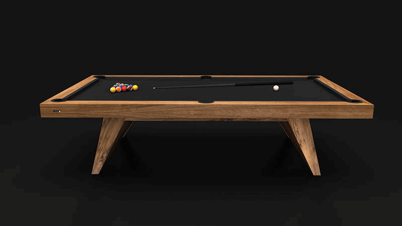 Trigon   Walnut Billiards Table