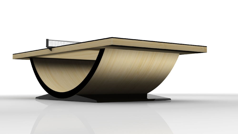 Theseus Table Tennis Table in Bamboo