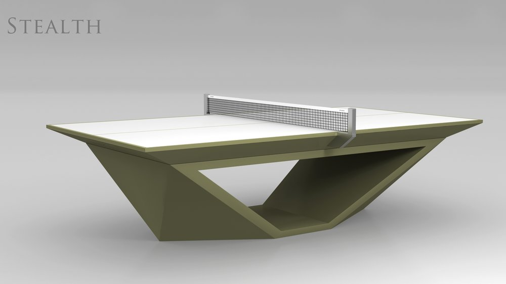 Stealth Table Tennis Table in Olive Green