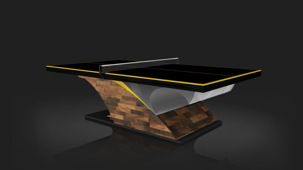 Poseidon Table Tennis Table in Walnut