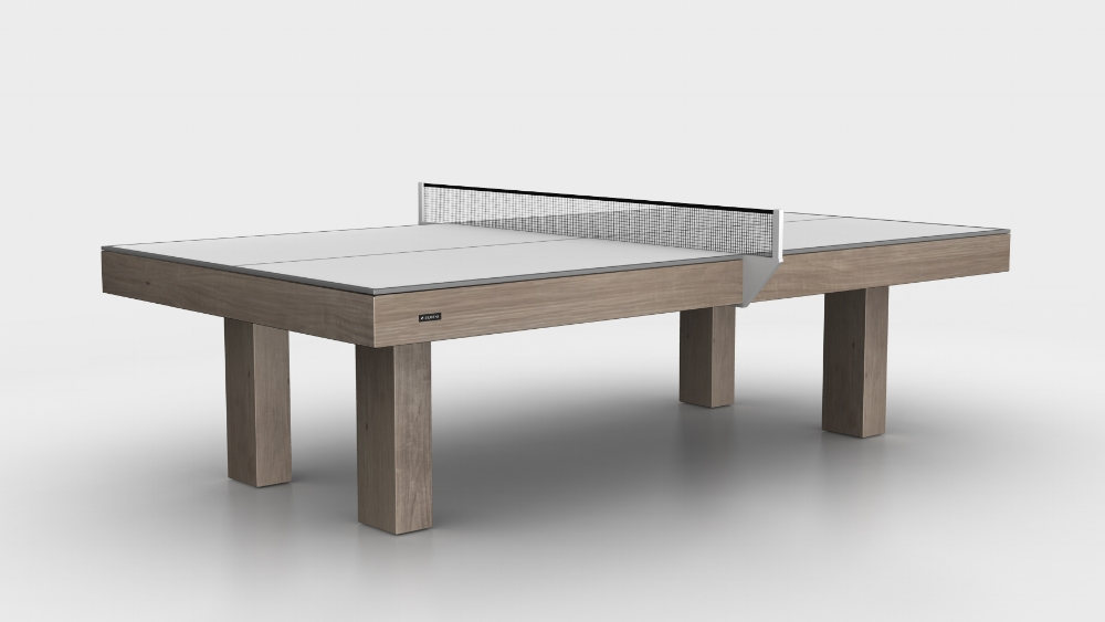 Malibu Table Tennis Table in Rift White Oak