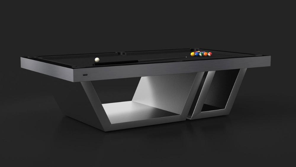 Titan - Brushed Aluminum Billiards Table