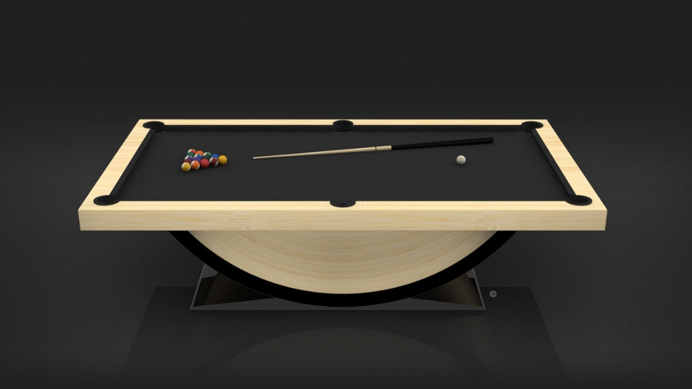 Theseus Billiards Table in Bamboo