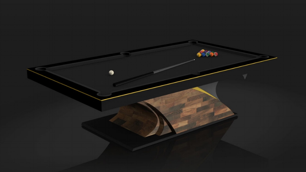 Poseidon Billiards Table in Walnut