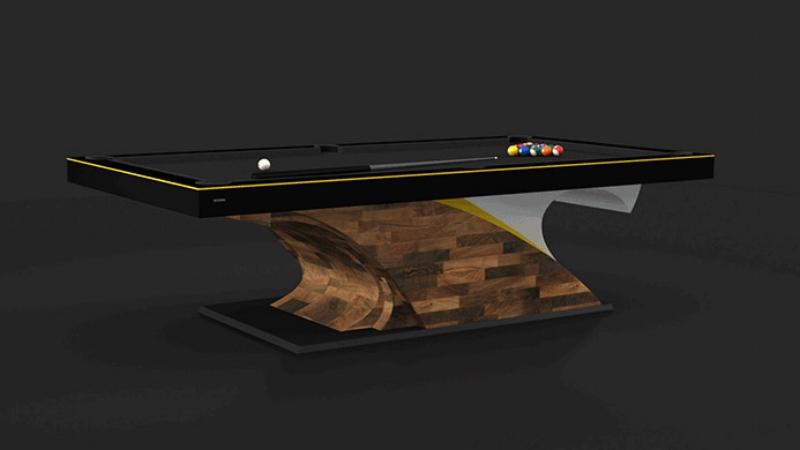 Poseidon Billiards Table in Walnut