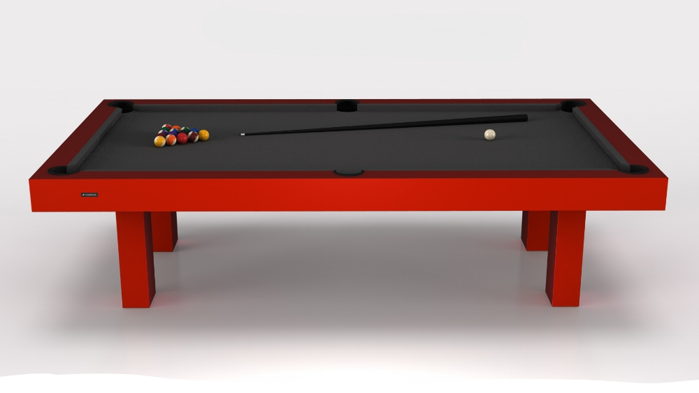 Malibu Billiards Table in Red