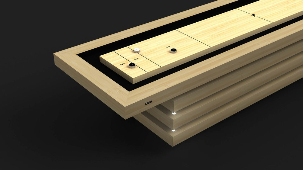 Arclight Shuffleboard Table in Bamboo