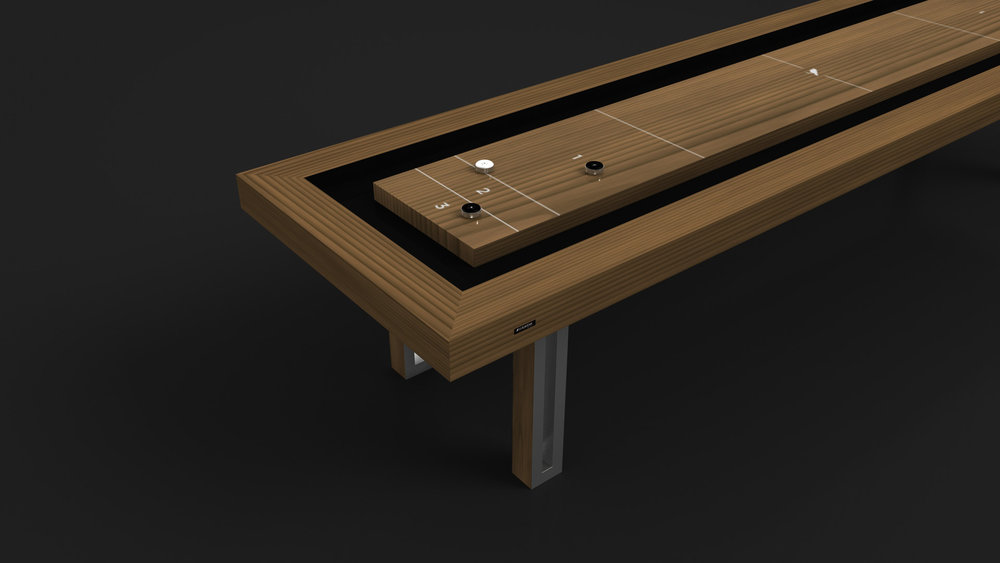 Executive Shuffleboard in Teak