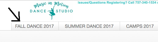 Online Dance Class Registration