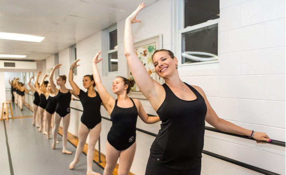 Ballet plus lauren at barre.JPG