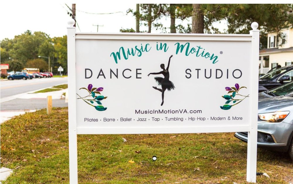 Dance Studio sign on North Lynnhaven Road Across from Kings Grant Elementary School