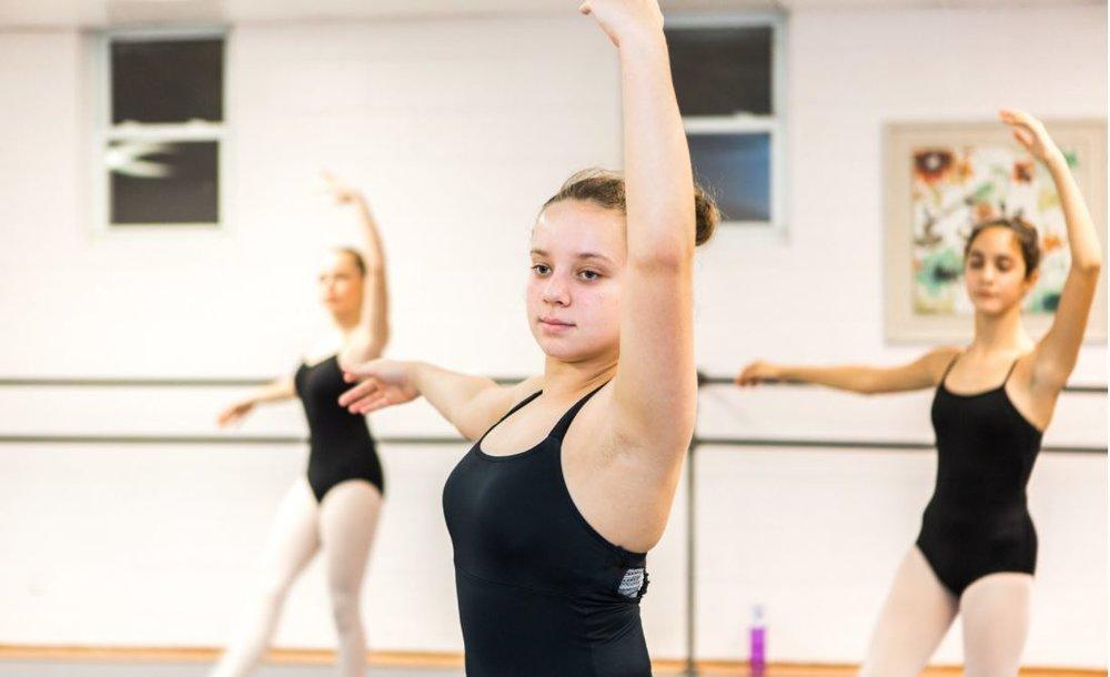 Ellen in Ballet Class - Center.JPG