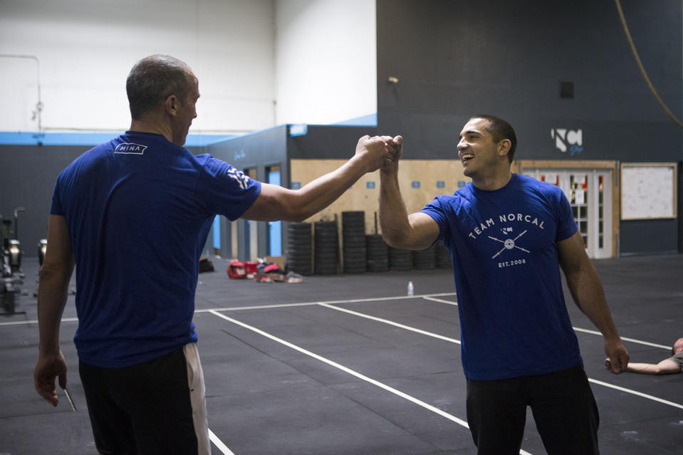 """Mr. Yumul worked with Mr. Khalipa, who is a former CrossFit Games champion, to create wellness challenges for the staff of Mina Group, whose Bay Area restaurants include Michael Mina, Arcadia, RN74 and Pabu."""