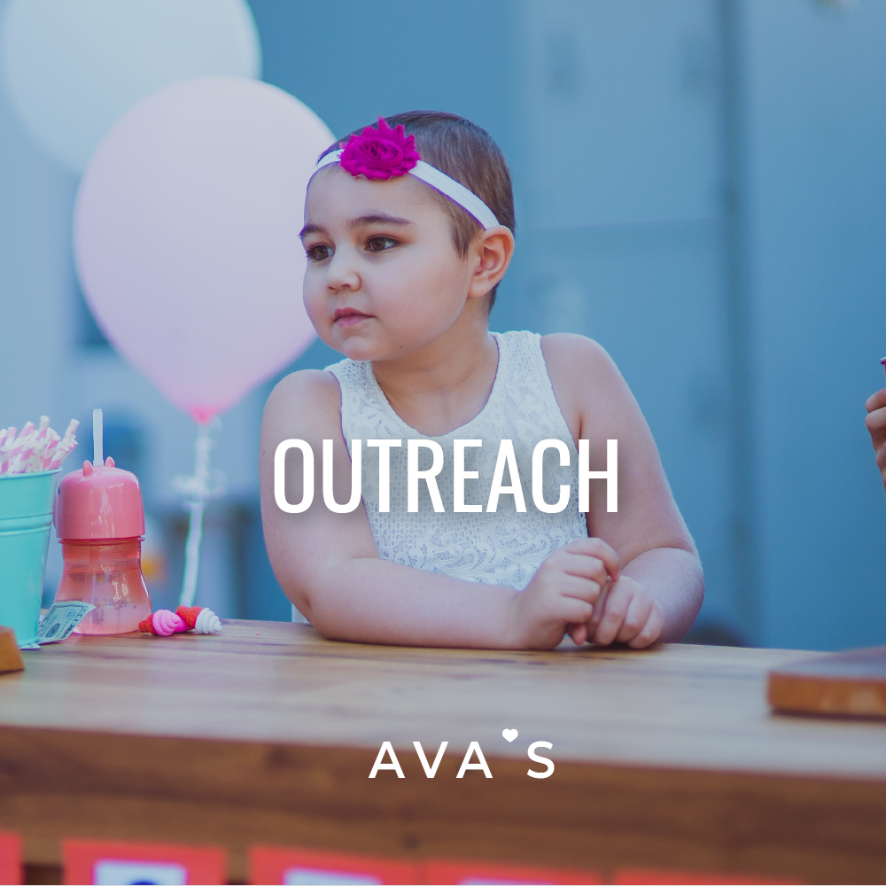 OUTREACH - After Ava's diagnosis, Jason wanted to use his reach to help other families fighting similar battles